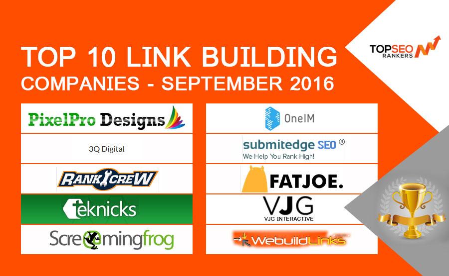 Top 10 Link Building Services Agencies September 2016