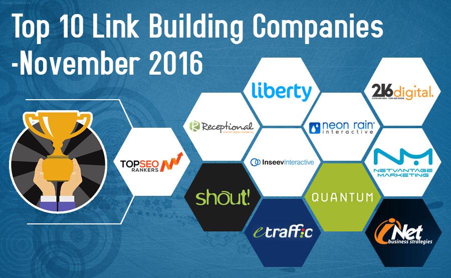 Top 10 Link Building Companies Rankings November 2016